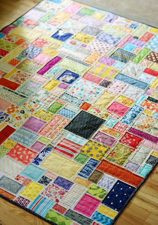 Scrap Quilt Patterns For Beginners : Super Scrappy Soccer Quilt The {studio} blog by April Rosenthal
